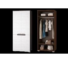 Шкаф для одежды к гостинойВика венге/белый страйп