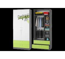 Шкаф для одежды с ящиками Граффити