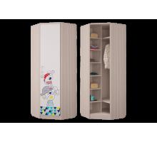 Шкаф для платья и белья угловой Джимми