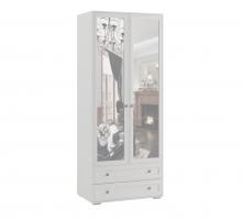 Шкаф двухстворчатый с зеркалом РШ-24 Ричард, Ясень анкор светлый