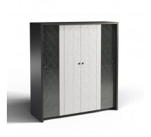 Шкаф комбинированный 4Д Монако КМК 0673.12, графит/белый глянец
