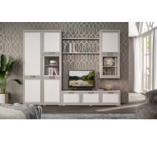 Шкаф комбинированный Регата 3 КМК 0743, венге светлый/жемчужный