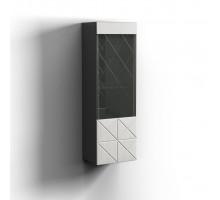 Шкаф навесной Левый Монако, Графит/белый глянец 0673.26