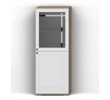 Шкаф с витриной Л (П) Шарм КМК 0722.11 (12), дуб сонома/белый глянец