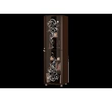 Шкаф со стеклянными дверками для гостиной Соната-11 венге/мл.дуб