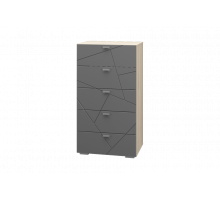 Скайлайн Комод 5 ящиков дуб санома/графит