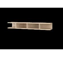 Скайлайн Полка с перегородкой (1500) дуб санома/графит