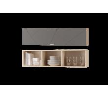 Скайлайн Шкаф настенный (1200) с горизонтальной дверью дуб санома/графит