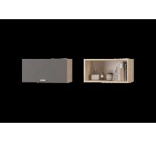 Скайлайн Шкаф настенный (600) с горизонтальной дверью дуб санома/графит
