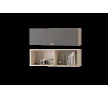 Скайлайн Шкаф настенный (900) с горизонтальной дверью дуб санома/графит