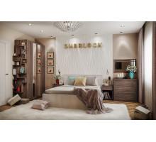 Спальня SHERLOCK, Ясень Анкор темный. Комплект 3