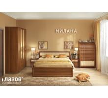 Спальня Милана (Орех) Комплект 1