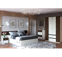 Спальня Николь (КМК), Комплект 1, Дуб шамони светлый/Орех шоколадный