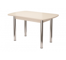 Стол обеденный Бостон-2 Белый глянец 1100*700ов. (опора брифинг)